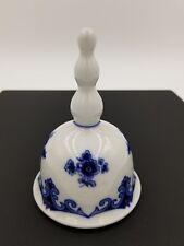 HENIRICH WINTERLING ECHT KOBALT BLUE WHITE PORCELAIN BELL *MARKED