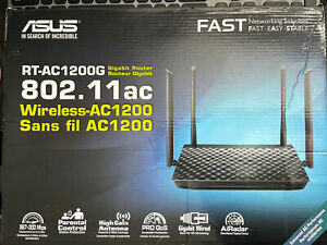 ASUS RT-AC1200G Dual Band Wi-Fi Wireless Router with Gigabit LAN Ports, USB 2.0