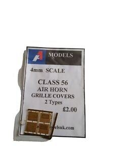 A1 MODELS 4MM DETAILING PARTS  Class 56  Air Horn Grille Covers. 2 types