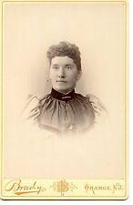 Young Woman-Brady Studio Adv-Orange-New Jersey-Nice Vintage Cabinet Photograph