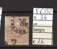 FRANCOBOLLI BELGIO USATI N°36 (F6332)