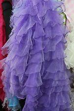 "ORGANZA RUFFLE MESH FABRIC 56""/58"" WIDE BY THE YARD Home Decoration Bridal Wear"