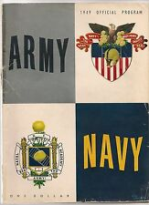 1949 Army-Navy Program Cadets Blank Mids Perfect Season!!