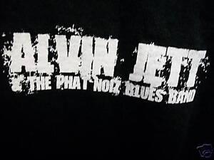 Alvin Jett Phat Noiz Blues Band shirt St Louis Mo SZ M