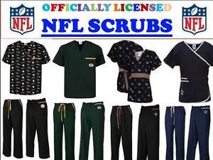 NFL SCRUB TOP-NFL SCRUB PANTS-NFL SCRUBS-ALL TEAMS-NFL FOOTBALL SCRUBS-C-D TEAMS
