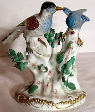 Old ACHILLE BLOCH Paris Porcelain Figurine Severs birds