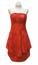 MARIA BONITA EXTRA Strapless Tie-Dyed Tiered Dress Color: Orange / Pink Size: 6