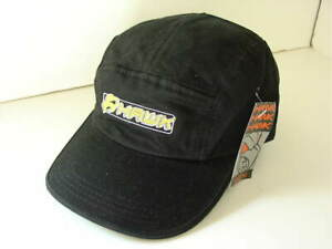 HAWK SKATEBOARDING PHAT HAT Black Cotton Baseball Cap Mens Size OSFA NEW NWT