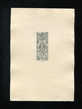 EXLIBRIS,039a, Hermann Bauer, 1924,  - Phantasievogel / fantasy bird