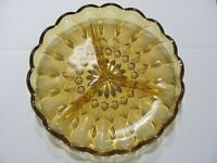 Hocking Fairfield Amber Depression Glass Relish Plate