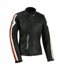 New Women`s BMW Motorcycle Racing Biker 100% Cowhide Leather Ladies Jacket