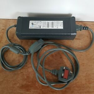 Microsoft Xbox 360 Grey Power Supply Brick & Mains Cable Tested Fully Working