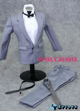 "1/6 Scale Clothes For 12"" Male Figure Gray Color Suit Full Set SHIP FROM USA"