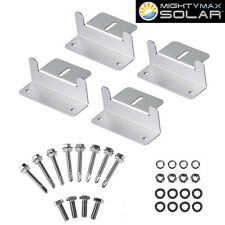 Mighty Max Solar Panel Mounting Z Bracket kit for RVs Roof