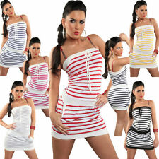 Viscose Stripes Short Sleeve Dresses for Women
