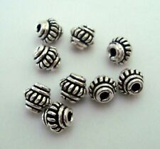 20pcs BALI 925 Sterling SILVER SPACERS Beads round roundel oxidized 5mm S72