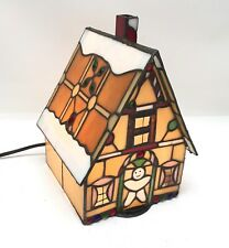 Stained Glass Gingerbread House Night Light Accent Lamp