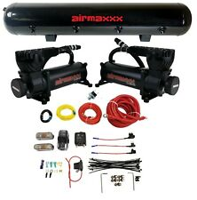 Airmaxxx Dual 580 Air Compressor Wire Kit 5 Gallon Steel 9 Port Tank Air Ride