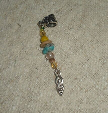ONE Dreadlock Bead Goddess Dread Jewellery Hair Jewelry Dangle Cuff Charm Silver