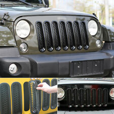 For 2007-2018 Jeep Wrangler JK Car Front Insert Mesh Cover Grille Trim 7PCS