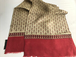 Mens Vintage SILK Scarf Patterned Retro Cravat Necktie 60's 70's
