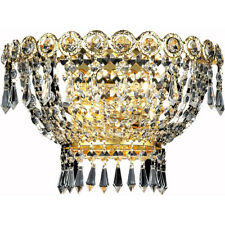 FRENCH EMPIRE GOLD WALL SCONCE ASFOUR CRYSTAL DINING BEDROOM BATHROOM HALLWAY