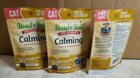 3 packs Head to Tail Daily Cat Calming Chews All Breeds 30ct Chicken Liver