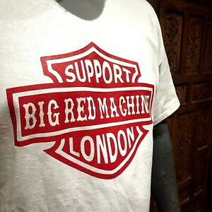 Red on White Support Badge  - Hells Angels Support Gear - Big Red Machine London
