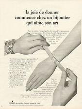 Publicité Advertising 1965  Montre ROLEX ... Oyster Day Date