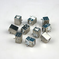 10pcs Usb Type B Female Right Angle Pcb Mount Jack Socket connector for Printer