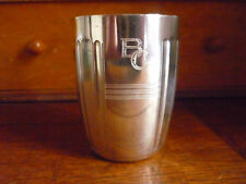 ANTIQUE FRENCH STERLING SILVER Wine Cup, Timbale or Beaker Cup ART DECO