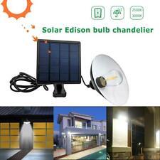 Solar Power LED Pendant Ceiling Hanging Light Outdoor Garden Garage Shed Lamp
