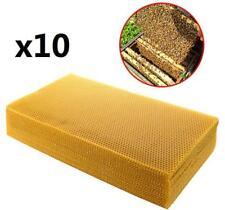 10pcsx 20*41cm Sheets Natural Beeswax Candlemaking Bee Wax Honeycomb Beekeeping