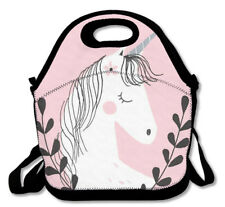 HORSE & WESTERN GIFTS ACCESSORIES GIRLS FANTASY UNICORN LUNCH BAG PINK