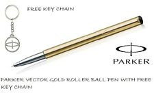 Parker Vector Gold GT Roller Ball Pen Gift Box with Free key chain Brand new