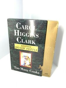 Bepuzzled Carol Higgins Clark Too Many Cooks 1000 Piece Mystery Puzzle Complete