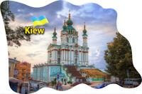 Kiev Ucrania Imán de Nevera Bandera Bandera Epoxy Viajes Recuerdo