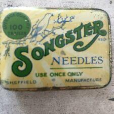 "Grammophon-Nadeldose: ""Songster"" Sheffield 100 needles"