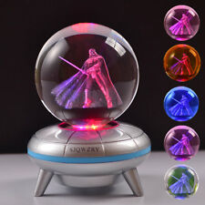Star Wars Darth Vader 3D LED Crystal Ball Night Light Table Desk Lamp Gift RGB