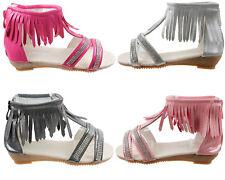 Elegante Kinder Sandalen Kinderschuhe für Mädchen Schwarz Weiß Rosa Pink AB012