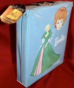 Vintage New With Paperwork & Tag Blue 1963 Barbie Doll Case By Mattel Ponytail