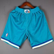 100% Authentic Mitchell & Ness Hornets NBA Shorts Size S Small larry johnson