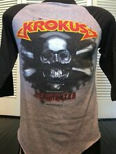 VTG 85 Krokus Tour Shirt Sz S Glam Rock Metal 80's Ratt Dokken Extreme Helix