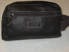 Ashwood Men's Leather Wash Bag - Dark Brown