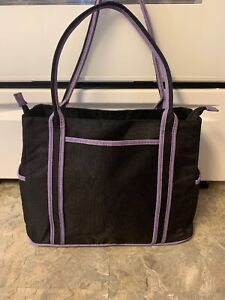The First Years Diaper Baby Bottle Bag - Black And Purple