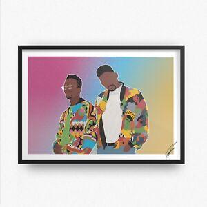 DJ Jazzy Jeff & The Fresh Prince INSPIRED WALL ART Print / Poster Minimal A4 A3