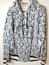 MENS SM MADA HOODIE BLUE AND WHITE CHECK  SIZE (L)