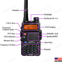 BaoFeng UV-5R V/UHF Dual Band Two-way Walkie-Talkie 136-174/400-520MHz Ham Radio