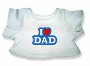 """I Love Dad T-Shirt Teddy Bear Clothes Fits Most 14"""" - 18"""" Build-a-bear and Make"""