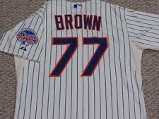 BROWN size 46 #77 2013 New York Mets game jersey issued home cream MLB HOLOGRAM